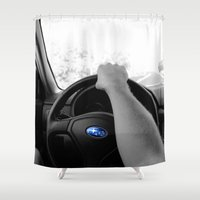 subaru Shower Curtains featuring Subaru by Maggie Wheeler