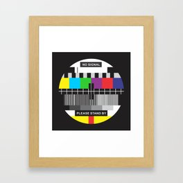 TV No Signal Framed Art Print