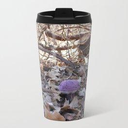 Knitted Violet-Gray Bolete Travel Mug