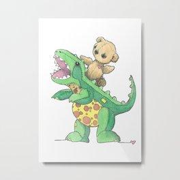 Dino Ride Metal Print