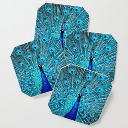 Peacock  Blue 11 Coaster