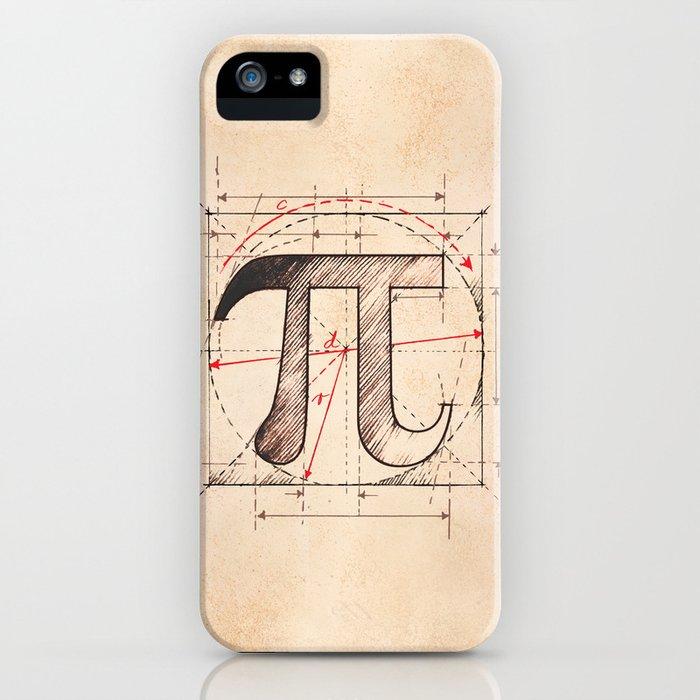 Pi Symbol Sketch iPhone Case