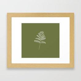 A Simple Fern Framed Art Print