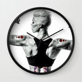 Cybernetic woman Wall Clock