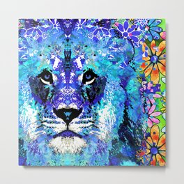Lion Art - Beauty And The Beast - Sharon Cummings Metal Print