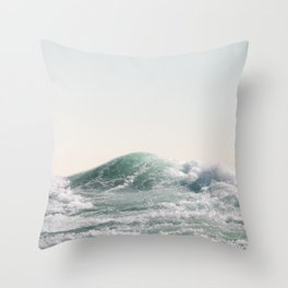 Waves and Sunrise   Happy Summer Photography   Ocean   Beach Vibes   Tropical Water   Sea  Throw Pillow