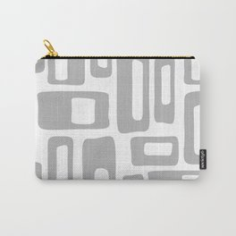 Retro Mid Century Modern Abstract Pattern 336 Gray Carry-All Pouch