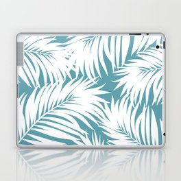 Palm Tree Fronds White on Soft Blue Hawaii Tropical Décor Laptop & iPad Skin