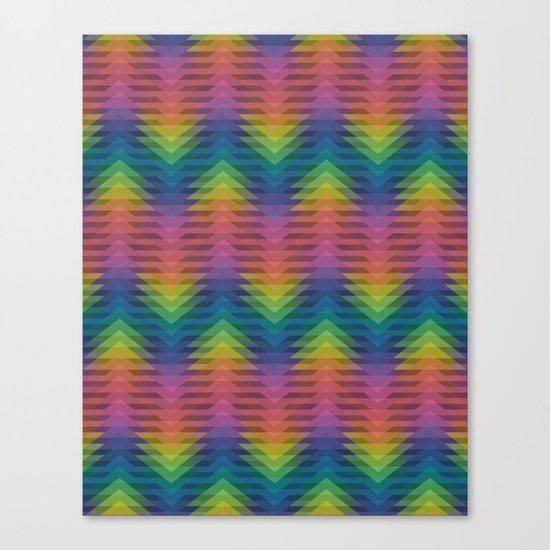 Triangular Entropy Canvas Print