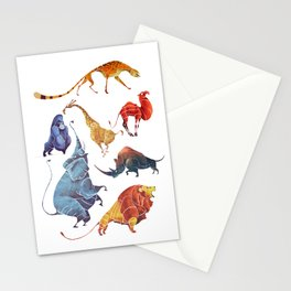 African animals Stationery Cards