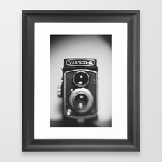 Yashica-A black and white Framed Art Print