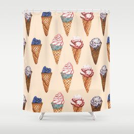 Lot of Ice cream nude pattern Shower Curtain