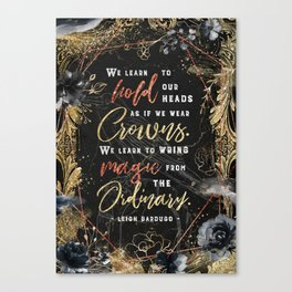 We learn to hold Canvas Print