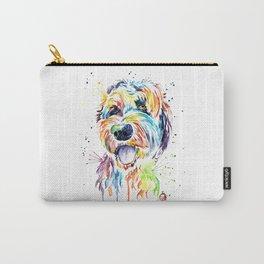 Goldendoodle, Golden Doodle Watercolor Pet Portrait Painting Carry-All Pouch