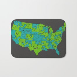 Hugging it Out Across America Bath Mat