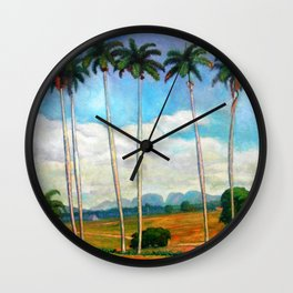 Cuban landscape Wall Clock