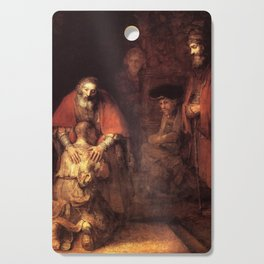 The Return of the Prodigal Son Painting By Rembrandt Cutting Board