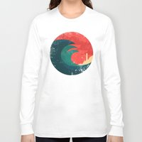 ocean Long Sleeve T-shirts featuring The wild ocean by Picomodi