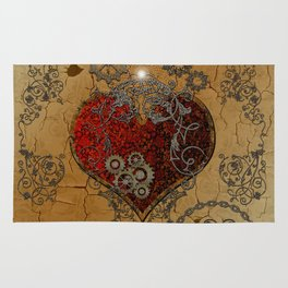 Steampunk, awesome heart Rug