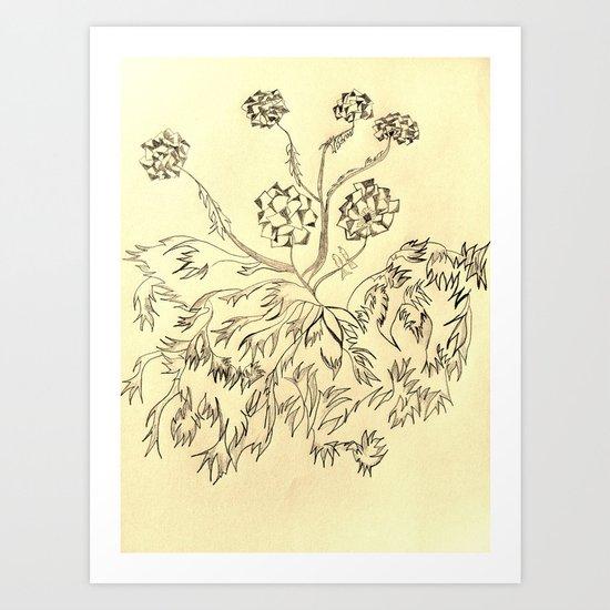 Roots Sepia Art Print