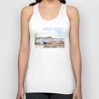 fishing Tank Tops featuring Fishing by Vargamari