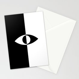 Eye - in a black has a white And in a white has a black Stationery Cards
