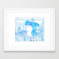 killer whale Framed Art Prints featuring Killer Whale by Tayfun Sezer