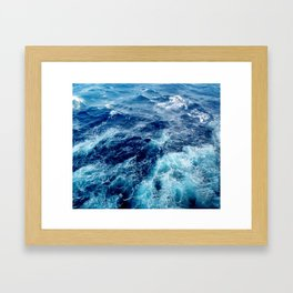 Rough Ocean Waves Framed Art Print