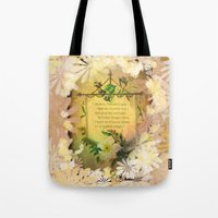poem Tote Bags featuring Love Poem by Lucia