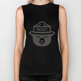 Bear Hat is Resist Biker Tank
