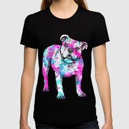 American Bulldog in Watercolor Splash T-shirt