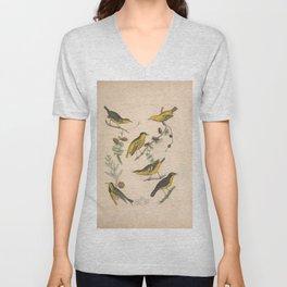 Bachmans Warbler Rathbones Warbler Carbonated Warbler Roscoes Yellow throat Warbler9 Unisex V-Neck