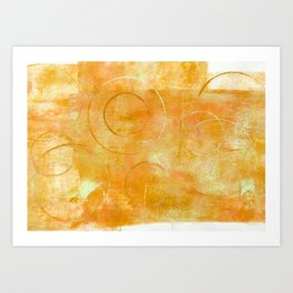 Will it Go Round in Circles, Abstract Art Painting Art Print