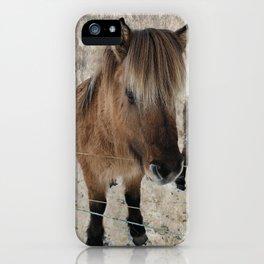 snowy Icelandic horse iPhone Case