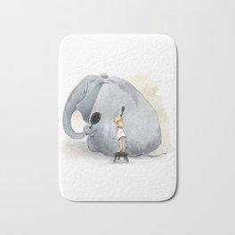 Brushing Elephant Bath Mat