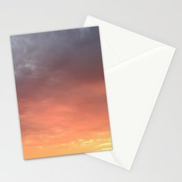 Yellow Red and Gray Sky Stationery Cards