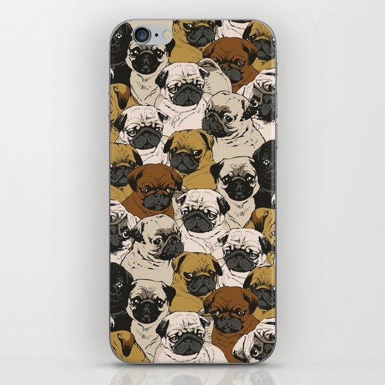 Social Pugz iPhone & iPod Skin