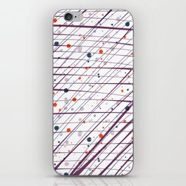 Maroon Splatter Pattern iPhone Skin