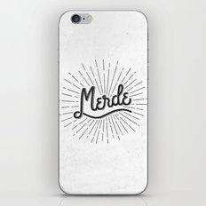 MERDE - BLANC iPhone & iPod Skin