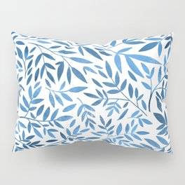 Blue leaf pattern Pillow Sham