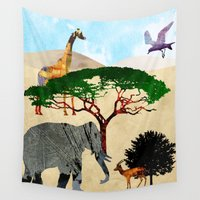 safari Wall Tapestries featuring Safari by Design4u Studio