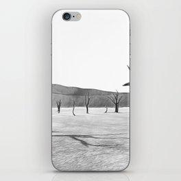 deadvlei desert trees acrbw iPhone Skin