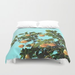 Summer Orange Tree Duvet Cover