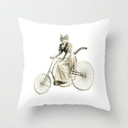 Victorian Cat Series 03 Throw Pillow
