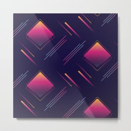 Future Portals Synthwave Aesthetic Metal Print