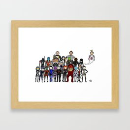 Mass Effect Gang Framed Art Print