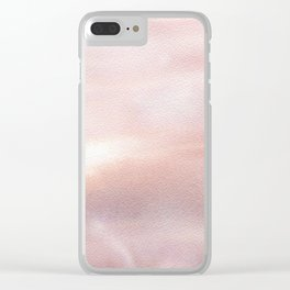 Soft pink abstract painting Clear iPhone Case