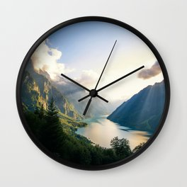 Swiss Alps Wall Clock