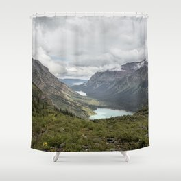 Three Lakes Viewed from Grinnell Glacier Shower Curtain