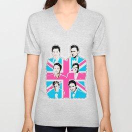 british men Unisex V-Neck